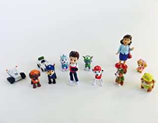 Nickelodeon PAW Patrol Deluxe Mini Figure Toy Play Set 12 Piece Cake Toppers Cupcake Decorations with Ryder, Chase, Skye, Rubble, Zuma, Rocky, Everest, Mayor Goodway and More!