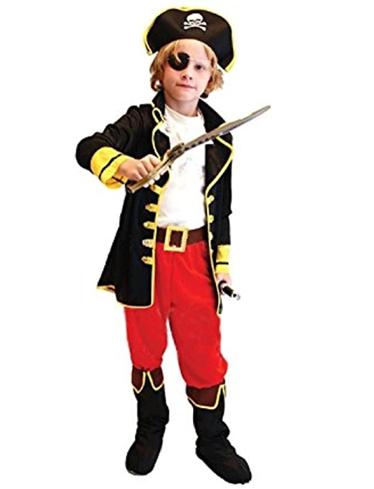 大胆不敵バラエティ記念子供 カリブ 海賊 衣装 セット パイレーツ オブ カリビアン パーティ ハロウィン コスプレ コスチューム (S)