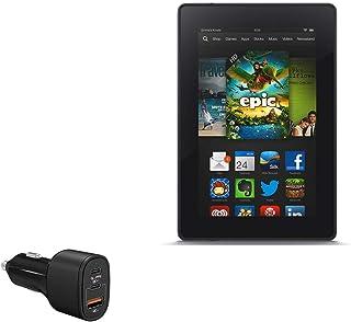 Carregador para carro Kindle Fire (1ª geração 2011), BoxWave [SwiftCharge PD QC4.0 Carregador para carro Plus (60W)] PD QC...