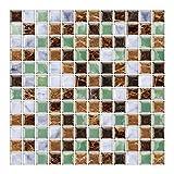 6 Unidades 3D autoadhesiva Etiqueta engomada del azulejo de la Pared, pelar y Pegar Vinilo Wallpaper...