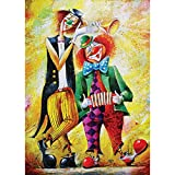 Diamond Painting Kits for Adults Diamond Art DIY 5D Round Full Drill Rhinestone Diamond Pictures for Home Wall Decor 11.8 x 15.7 Inch-Happy Clown