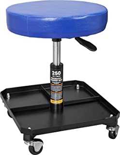 TCE ATR6350U Torin Rolling Pneumatic Creeper Garage/Shop Seat: Padded Adjustable Mechanic Stool...