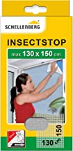 Schellenberg 50714 nylon horrengaas, muggen en insectengaas inclusief bevestigingstape, bevestiging zonder te boren, 130 x...