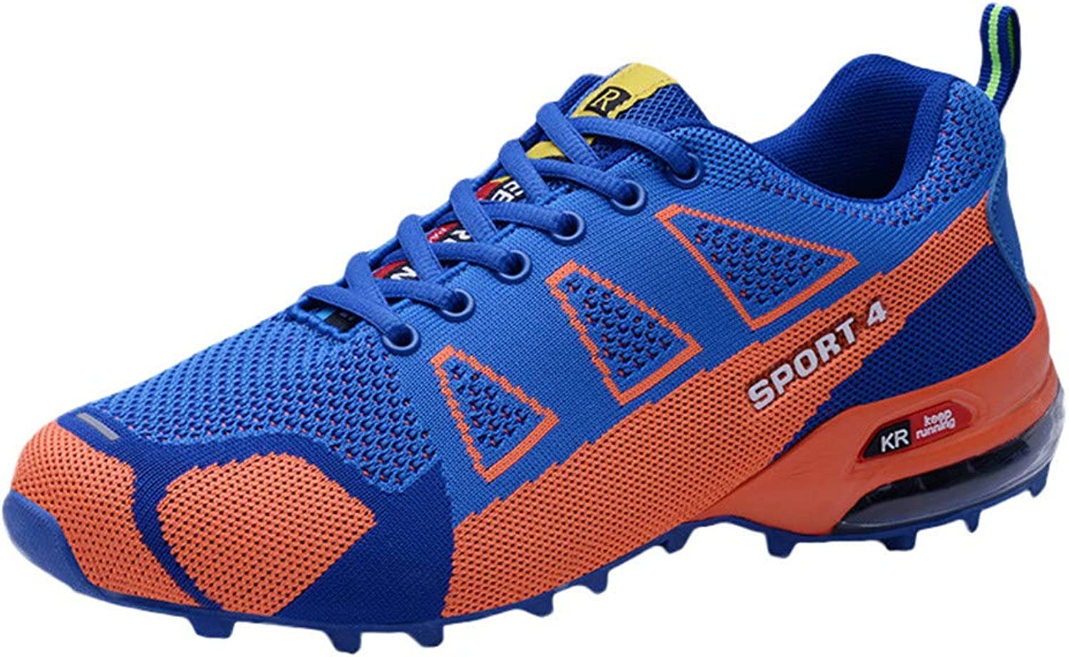 Men Casual Outdoor Mountaineering shoes Lightweight Breathable Laceup Sneakers RedBrowm