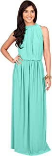 Sexy Sleeveless Summer Formal Flowy Casual Gown