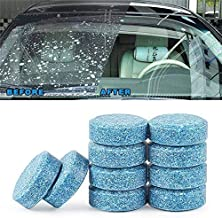 mahek accessories 10PCS/1Set Car Wiper Detergent Effervescent Tablets Washer Auto Windshield Cleaner Glass Wash Cleaning C...