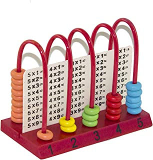 AT-TOYS W24024 Calculate The Baby, Kids Counting Toys Educational Wooden Abacus Baby Counting Number Frame Calculation Cou...