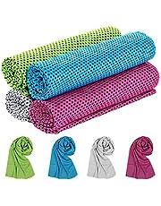 Comius Sharp Toalla de Enfriamiento, 4 PCS Gym Entrenamiento Toalla, Toalla de Hielo Fría Instantánea, Toalla Deportiva, Cooling Towel para Viajes, Yoga, Golf,Ciclismo y Deportes al Aire Libre