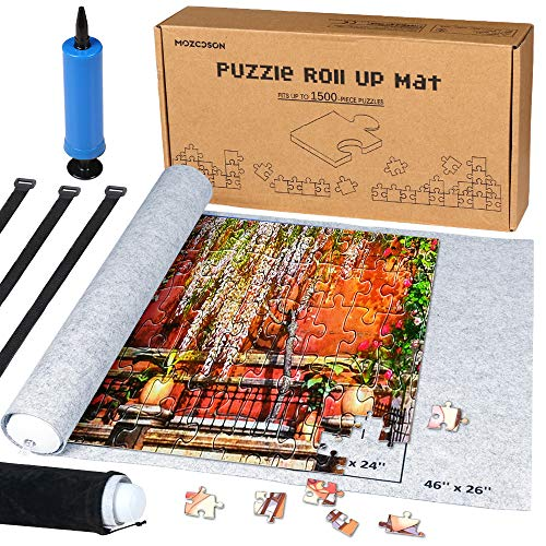 Puzzle Mat Roll Up for Jigsaw Puzzles Upto 1500 Pcs, Jigsaw Puzzles...