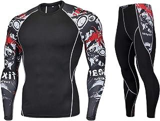haoricu Men Sport Suit, Man Fitness Sports Gym Pants+Shirt Running Yoga Athletic Jogger Sweatpants Tops