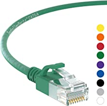 InstallerParts Ethernet Cable CAT6A Slim Cable UTP Booted 3 FT (10 Pack) - Green - Professional Series - 10Gigabit/Sec Network/High Speed Internet Cable, 550MHZ, 28AWG