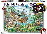 Schmidt Spiele Puzzle 56330 In der Piratenbucht, inklusive Piratenflagge, Kinderpuzzle, 100 Teile,...