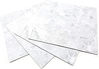 ROSEROSA Peel and Stick Engineered PVC Tiles Mable Granite Pattern Durable Vinyl Flooring (ECK-304 : Square 4 Tiles)