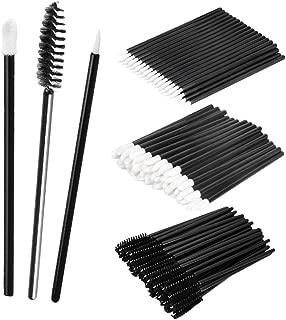 MagiDeal 150PCS Makeup Comestic Disposable Applicator Wand Set Mascara Eyelash Liquid Liner Eye Lip Brushes Kit - black, as described