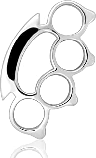 WithLoveSilver Sterling Silver 925 Charm Fight Brass Knuckle Duster Pendant