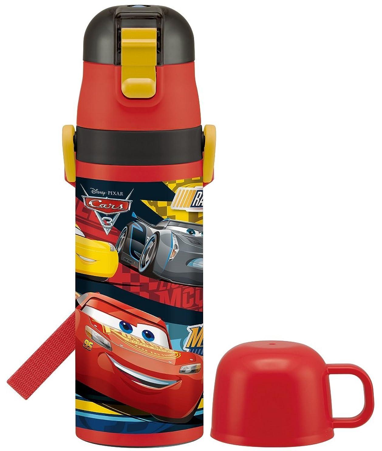 非常にラオス人つかいますスケーター 2WAY ステンレスボトル 水筒 コップ付き 470ml カーズ3 クロスロード ディズニー SKDC4