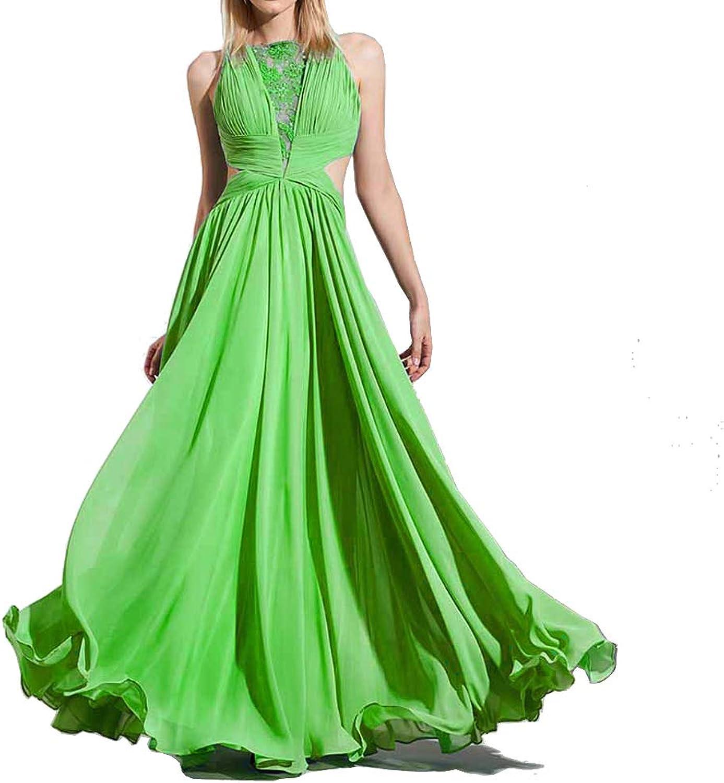 Mathena Women's Long Lace Appliques Illusion Neck VNeck Prom Dresses Formal Evening Bridemaid Gowns
