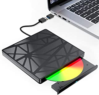 【2021最新型】外付け DVDドライブ 外付け 【進化バージョン USB3.0】 DVDドライブ 外付け CD/DVD ドライブ ポータブル USB3.0 USB2.0 対応 DVD/CD/VCD ドライブ ディスク DVD プレイヤー 外付...