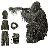 Best Ghillie Suits - Ghillie Suit, 3D Camouflage Hunting Apparel 5-Piece Including Review