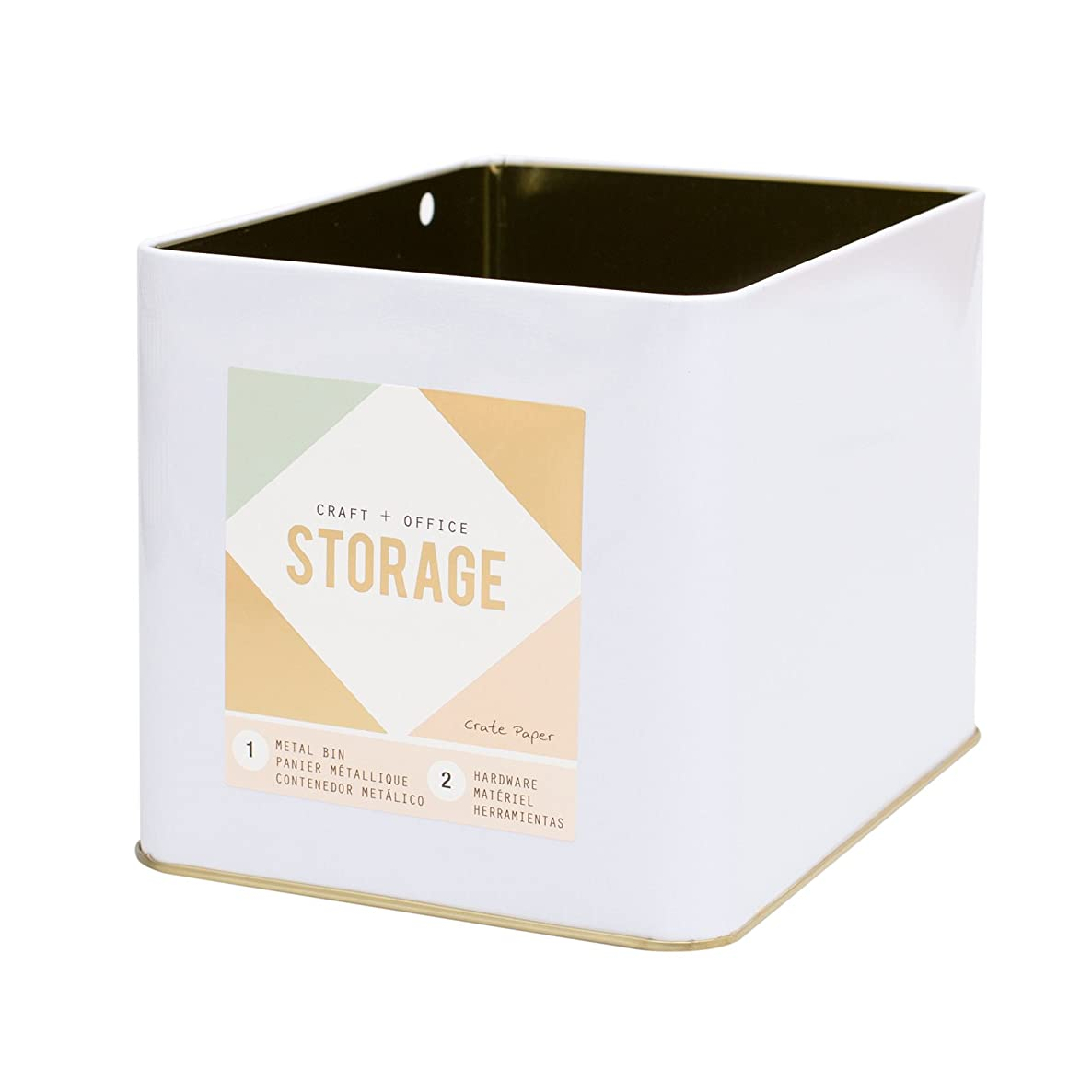 American Crafts Crate Paper Wire System Storage Large Bin