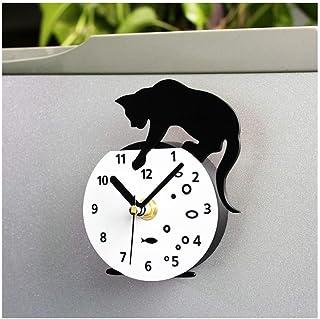 WINOMO Magn/étique R/éfrig/érateur Horloge Aimants pour R/éfrig/érateur Autocollant Ronde Chat Motif Horloge Murale Message Autocollants