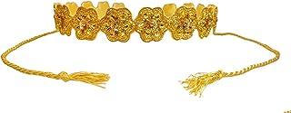 Duchess Golden Beaded Traditional Cloth Waist Saree Belt and Kamarbandh for women and girls