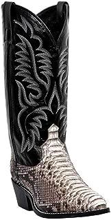 6751 Men's Python Snake Western Boots - Natural