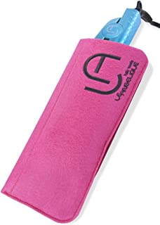 Heat Resistant Case & Mat for Hair Straighteners by Le Angelique - Travel Pouch Great for Travelling and Protecting Your Surfaces. (Pink)