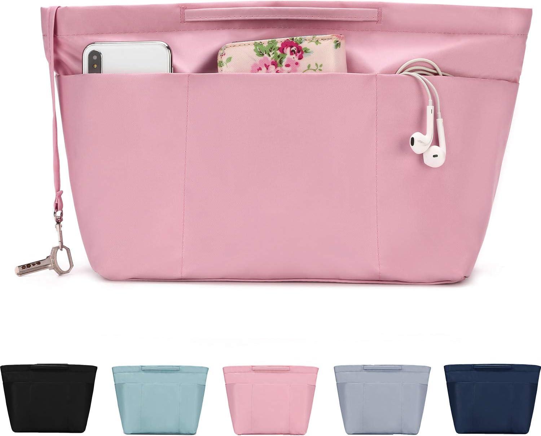 Imperm/éable Bag in Bag Pochette Sac de Rangement Int/érieur avec /à Fermeture /éclaire bridawn Organisateur de Sac /à Main en Nylon pour Femmes