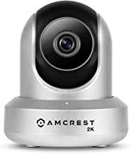 Amcrest UltraHD 2K WiFi Camera 3MP Security Wireless IP Camera with Pan/Tilt, Dual Band 5ghz/2.4ghz, Two-Way Audio, Wide 90° Viewing Angle and Night Vision IP3M-941S (Silver) (Renewed)