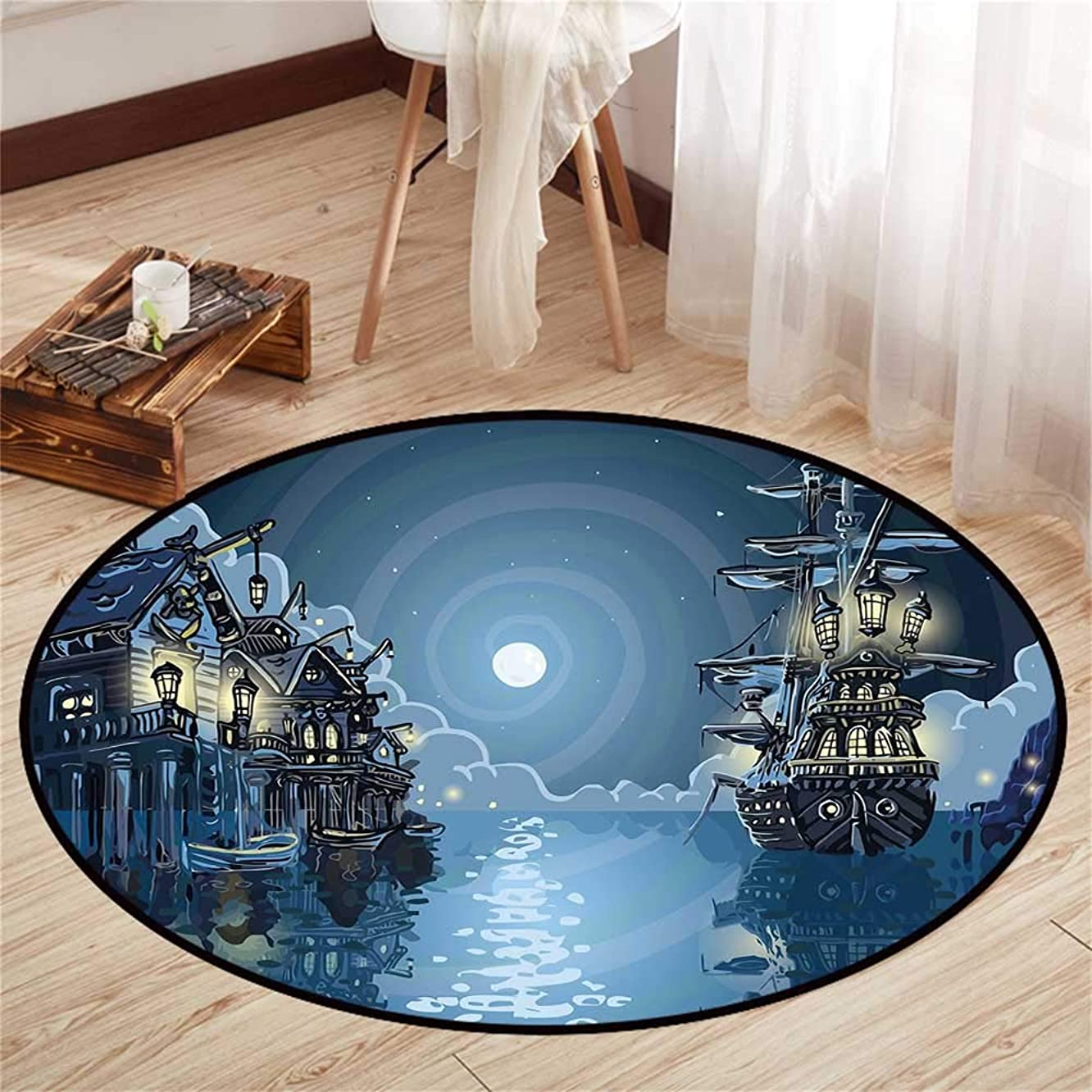 Round Floor mat for Baby Round Indoor Floor mat Entrance Circle Floor mat for Office Chair Wood Floor Circle Floor mat Office Round mat for Living Room Pattern 3'3