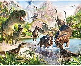 Dinosaur T-Rex Triceratops DIY 5D Diamond Painting Kit, Mosaic Diamonds Kit, Full Square/Round Drill 30cm X 40cm