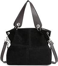 حقيبة كتف من Powlance للنساء ذات سعة كبيرة حقائب طويلة تمر بالجسم (لون أسود