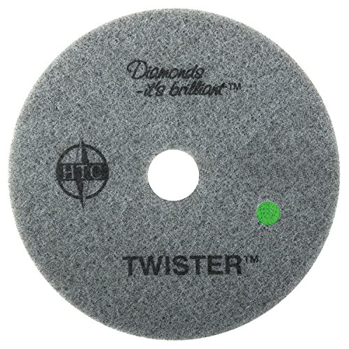 Twister Diamond Cleaning System 15' Green Floor Pad - 3000 Grit - 2 per case