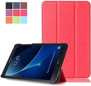 DETUOSI Buena Carcasa Compatible con T585 Galaxy Tab A 10.1 Cuero,Ultra Slim Lightweight PU Cuero Carcasa Piel Flip Case Cover para el 10.1'' Galaxy Tab A 10.1 SM-T580/SM-T585 Tablet Funda