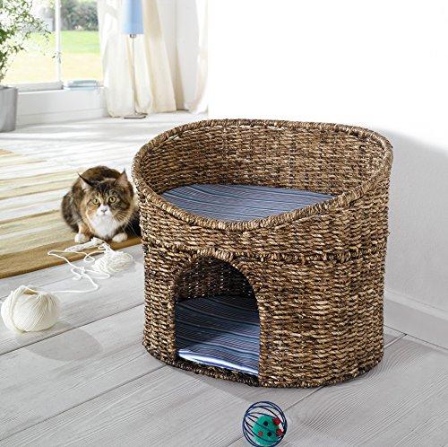 Katzenhöhle mit Kissen – Korb geeignet für kleine Katzen - 4