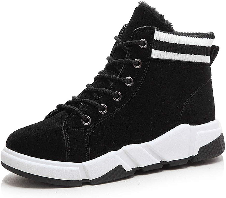 GIY Women Waterproof Winter Snow Boots Fur Lined Non-Slip Lace Up Sneaker Walking Boot Outdoor Sport Sneaker