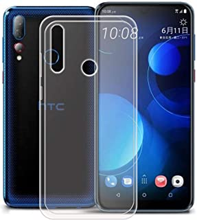 YZKJ Skal för HTC Desire 19s skydd, mjuk mobiltelefonficka transparent TPU mobiltelefonskal silikon väska skal skal skal s...
