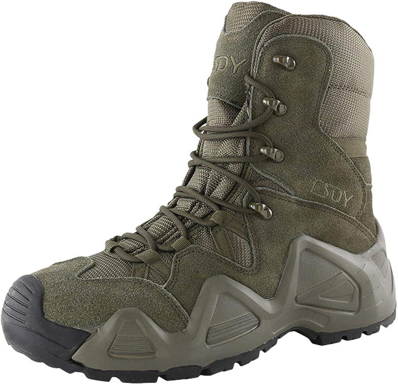 GOAIJFEN Herren Camo Combat Stiefel Desert Military Stiefel Special Special Forces leichte Trainingsschuhe Police Work Stiefel Mid-Calf Stiefel Wanderschuhe  kosteneffizient