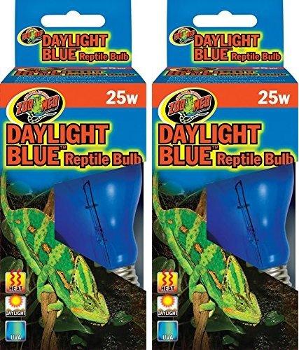 Zoo Med Daylight Blue Reptile Bulb (Set of 2) Watt: 25 Watts