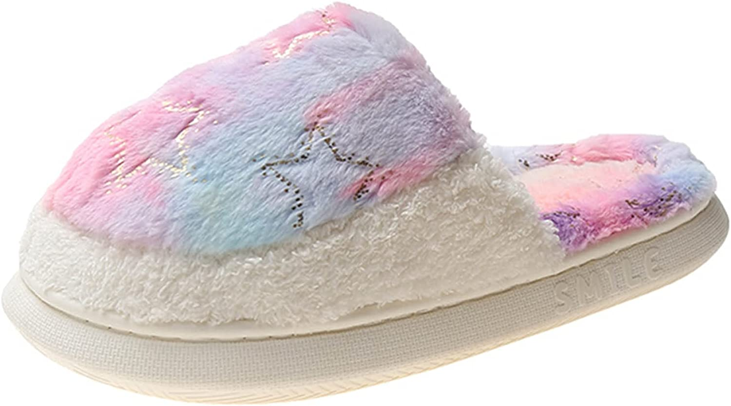 Hunauoo Slippers for Surprise price Womensoft Cotton Furry Oakland Mall Home Slippe