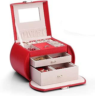 Jewellery Boxes Organisers Jewellery Box Jewelry Box Multi-Layer Large-Capacity Handmade Jewelry Storage Box Desktop Dust-Proof Leather Jewellery Finishing Box Jewellery Boxes Organisers