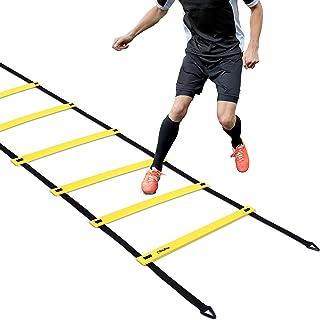 نردبان چابک Ohuhu، نردبان سرعت برای فوتبال سرعت آموزش کشش، انتخاب چندگانه: 8 رینگ، 12 رینگ