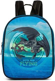 """Dreamworks Dragons kinderrugzak """"Drakenstammen licht gemaakt 3"""", blauw/zwart, 23 x 5 x 29 cm, 20567-2400"""