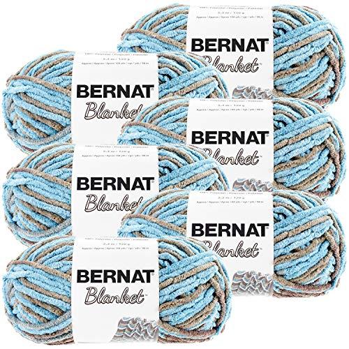 Bernat Blanket Yarn-6/Pk-Coastal, 6/Pk, Coastal Cottage 6 Pack