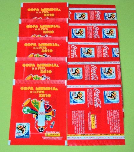 Panini WM 2010 Südafrika - 10 x Tüte Coca Cola Edition Südamerika