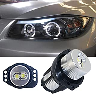 Ricoy For BMW E90 E91 2005-2008 3 Series CREE 6W Angel Eyes LED Halo Ring Marker Light 6000K(Pack of 2)