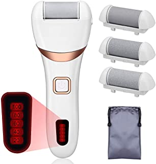 USB Portable Electric Callus Remover- Rechargeable Electric Foot Rasp Hard Skin Remover Waterproof Pedicure Kit for Dead Cracked Skin