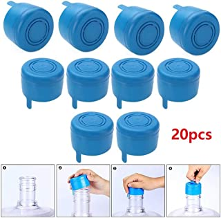 KingFurt 55mm 3 and 5 Gallon Water Jug Caps, Replacement Non Spill Anti Splash Bottle Caps Pack of 20
