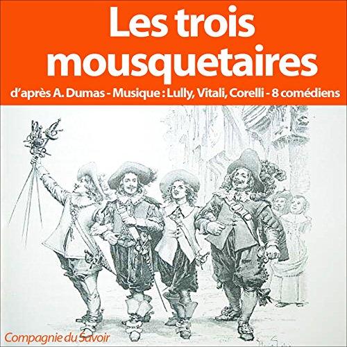 Les trois mousquetaires audiobook cover art